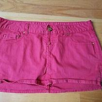 Euc Guess Jeans Mini Skirt Bright Red Size 30 Photo