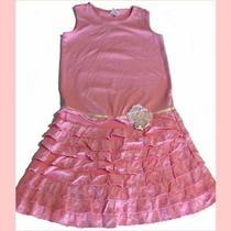 Euc Gymboree Holiday Garden Bloom Pink Ruffle Drop Waist Dress 12 Yrs Vintage Photo