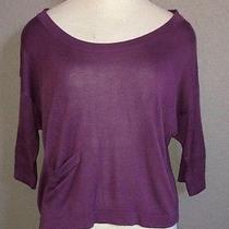 Euc h&m Purple Boxy Cropped Purple Sweater Size Xs Photo
