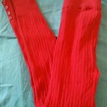 Euc h&m Red Cotton Tights Size 7-8 Photo
