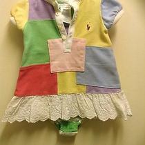Euc Infant Girl Polo Outfit Photo
