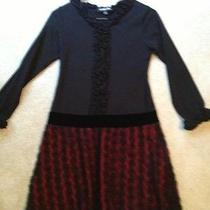 Euc Isobella & Chloe Girls Black/red Dress Size 14 Photo