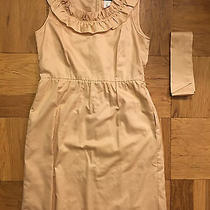Euc J.crew Blush Pink Ruffled Cotton Sateen Dress Size 6 Photo