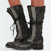 Euc Jeffrey Campbell Love Seattle Studded Tall Combat Boots Size 8 Photo