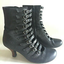 Euc Jeffrey Campbell Tiempo Victorian Gothic Buckle Boots Booties Women Size 9 Photo