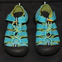 Euc Keen Youth Newport H2 Blue Green Waterproof Sandal Water Sport Shoes Sz 13 Photo