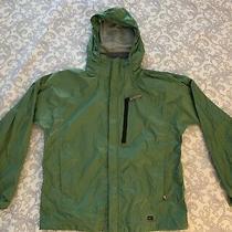 Euc Kids Rei Elements Jacket With Hideable Hood Sz 12/14 Photo