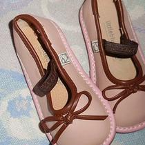Euc Little Blue Lamb Blush Pink Squeaky Shoes  Baby Girl 7 Free Ship Us Photo