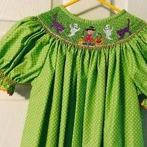 Euc Lolly Wolly Doodle Smock Halloween Dress Photo