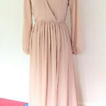 Euc Lulus Wondrous Water Lilies Blush Pink Long Sleeve Maxi Dress Sz S Photo