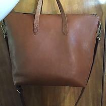 Euc Madewell Zip Transport Tote Crossbody Burnished Caramel Brown Leather Photo