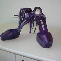 Euc Manolo Blahnik Purple Sandals Sz 39 Photo