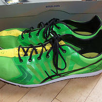 Euc Men's Asics Spivey Ld Long Distance Racing Running Shoes Green/yellow 13 Photo