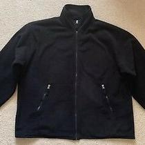 Euc Mens Gap Fleece Full Zip Jacket Black Size Xl Photo