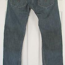 Euc Men's Levi's 514 Slim Straight Blue Brown Tint Jeans 30x32 Measure 31x32.5 Photo