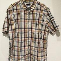 Euc Mens Patagonia Organic Cotton Plaid Button-Front Outdoor Casual Shirt L Photo