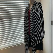 Euc Mink Pink Blazer Size Xs Symmetric Striped Relaxed Comfort Casual S Photo