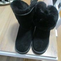 Euc Mint Black Ugg Boots Size 3 Photo