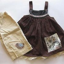 Euc Misha Lulu Bird Family Brown Herringbone Dress Size 2 Photo