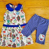 Euc Misha Lulu Hello Kitty Dress Striped Bike Short 6 Set  Photo