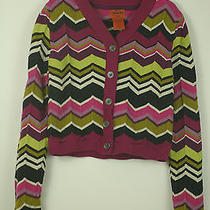 Euc Missoni for Target Girls Chevron Zig Zag Cardigan Sweater Multi-Color Size S Photo