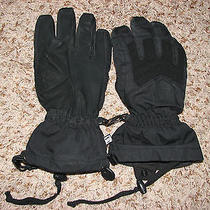 Euc Mns Sz S Black Insulated Burton Rubber Palmed Fleece Lined Gloves Photo
