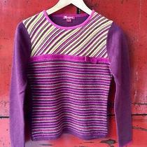 Euc Monsoon Womens Wool Blouse Purple Size Us 4 Bcbg Dvf Rl Polo Photo