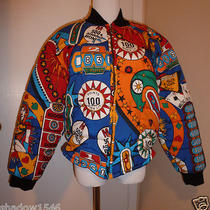 Euc Moschino Pinball Zipper Bomber Jacket Size 8 (Italy 42) Photo