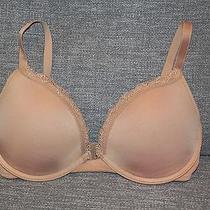 Euc Natori 32d Nude Tan Bra Lightly Padded Underwire High-End Photo