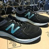 Euc New Balance Black Sneakers W/ Teal & Gray Accents Size 8.5 40 Photo
