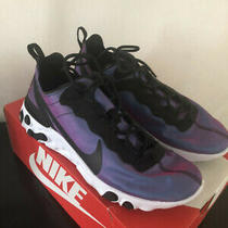 Euc Nike React Element 55 Prm Black Fuchsia Purple Women 10 Photo