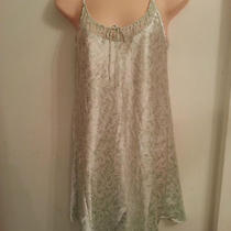 Euc Oscar De La Renta Fine Apparel Adorable Mint Green Print Nightie Size Xs Photo