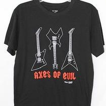 Euc Paul Frank T Shirt M Axes of Evil Electric Guitar 2009 Axis Bass Music Rock Photo