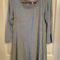 Euc Pink Blush Maternity Gray 3/4 Sleeve Shirt With Button Detail on Back Small  Photo