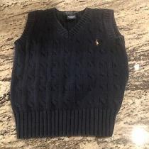 Euc Polo Ralph Lauren Size 4/4t Boysnavy Vest Photo