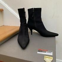 Euc Prada Black Nylon/leather Lined Booties Eur Sz 38 Retail 450 Photo