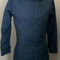 Euc Rei Elements Rain Parka Long Womens Jacket Size Small S Detachable Hood Blue Photo
