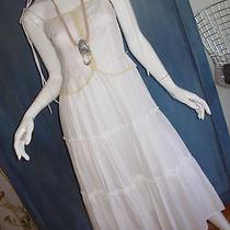 Euc Robert Rodriguez Designer Boho Hippie Wedding Ruffle Corset Prairie Dress 4 Photo