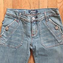 Euc Rock & Republic Siouxsie Trouser Fit Flap Pocket Jeans Size 24 Light Wash Photo