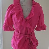 Euc Sara Campbell Pink Taffeta Blouse Size 8 Photo