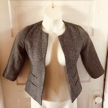 Euc Silence & Noise Anthropologie Sz Xs Women Black Sparkle Blazer Photo