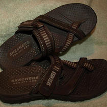 Euc Skecher's Reggae Rasta Women's Brown Sandal Thong (46444) S.9m  Photo