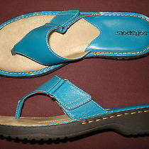 Euc Softspots Camilla Turquoise Sandal 10w W/ Box Photo