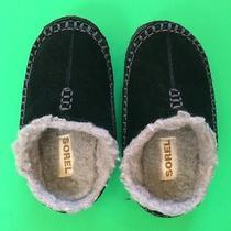 Euc Sorel Baby Boys Slipper Shoes 9 Sporty Slip-on Gift Cute Soft Warm Nice Photo