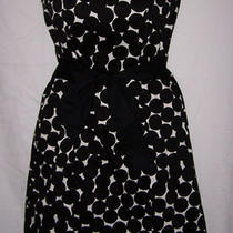 Euc Sz 4 Nine Westfancy Sun Dressstrapless Black & Whitestretch Tie Belt Photo
