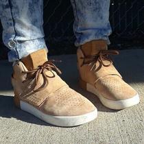 Euc Sz 6.5 Adidas Originals Tan Suede Sneakers Womens 8 Flap Flat Soles Photo