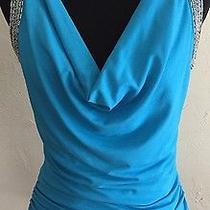 Euctalbots White Black Geometric Floral T-Shirt Knit Top Blouse Sz Xs Photo