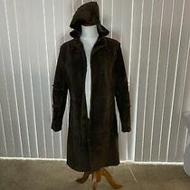 Euc Topshop Suede Coat Size 12 Photo