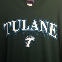 Euc Tulane University Green Wave Ncaa Adult Xl Jansport  T-Shirt Photo