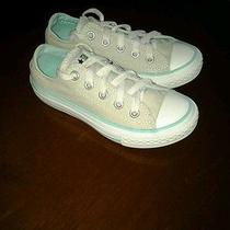 Euc Unisex Gray and Turquiose Low Top Converse Size 11  Photo